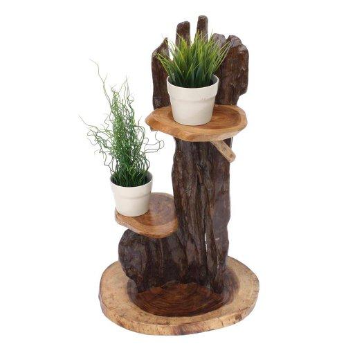 Floristikvergleich.de Teakproducts TPwood BS707 Möbel U0026 Dekoration  Exotische Blumensäule Aus Hartholz Blumenständer Für Pflanzen