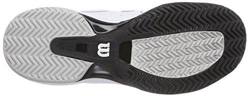 Wilson - Nvision Premium, Scarpe da tennis Uomo Multicolore (Mehrfarbig (WHITE/WHITE/BLACK))