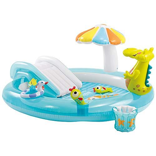 YSYDE Aufblasbare Pool-Spielcenter für Kinder Krokodil Ihre Kinder und ihre Freunde Werden einen unvergesslichen Tag im Freien mit Wasserspielzentrum verbringen EIN großartiges Spielzentrum für
