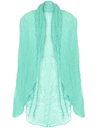 Women's Soft Crinkled Cardigan Shawl Wrap Stole Cover Up