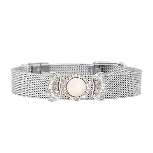 SlidJewelry - Pulsera para mujer con colgante de perla de plata con brillantes bohemios, regalo vintage, atrapasueños, colgante, pulseras
