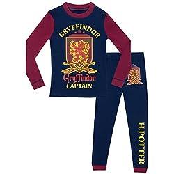 Harry Potter Ensemble De Pyjamas Garçon - Bien Ajusté, Multicolore, 8-9 ans