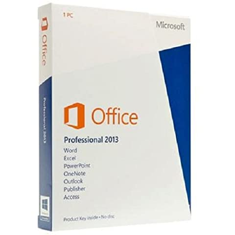 Microsoft Office Professional 2013 - 1PC (Product Key Card ohne