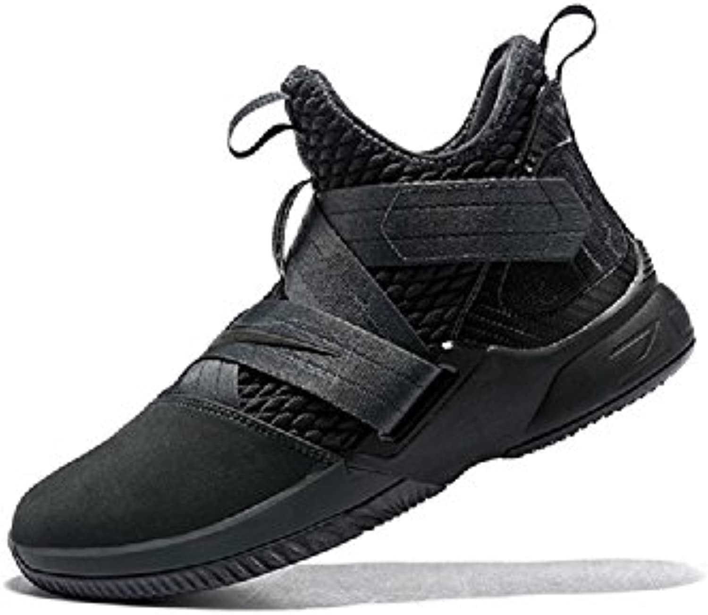 Nike Herren Lebron Soldier XII SFG Anthrazit Textil/Synthetik Basketballschuhe