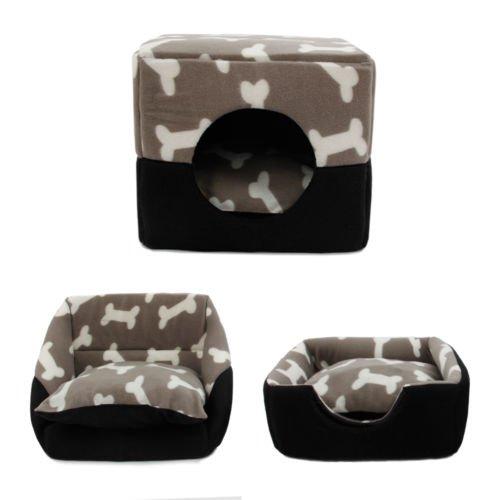 HongGXD Sofá cama súper cálido para mascotas Sofá cama para mascotas, cama cubo para perros pequeños perros Gatos con cojín espeso Súper cómodo sofá cama Gato cueva cama (Size : M)