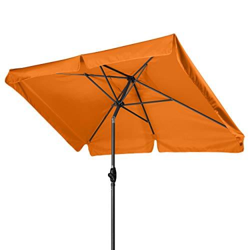 Derby Basic Lift NEO 210x140 - Kurbel Sonnenschirm ideal für den Balkon - Höhenverstellbar - ca. 210x140 cm - Umbra