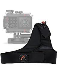 Harnais / fixation d'épaule pour Garmin VIRB Ultra 30, Lamax X7 Mira & X8 Electra caméras d'action - ajustable et garanti 5 ans par DURAGADGET