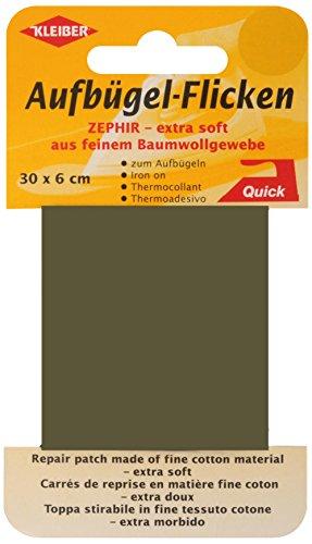 kleiber-30-x-6-cm-ruban-coton-thermocollant-reparation-tres-fin-et-souple-kaki