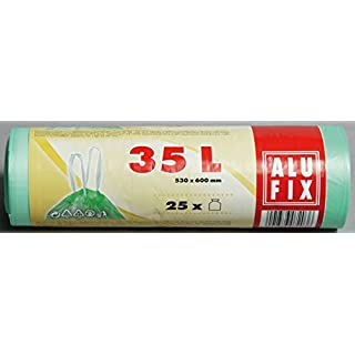 Alufix Zugbandbeutel 35 Liter, grün - 25 St.