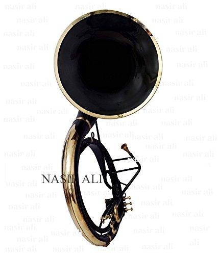 sousaphone für den King Size Tuba 24Für Bb-Pitch, Schwarz, Weiß, mit Tasche