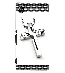 ColourCraft Jesus Cross Design Back Case Cover for SONY XPERIA M4 AQUA