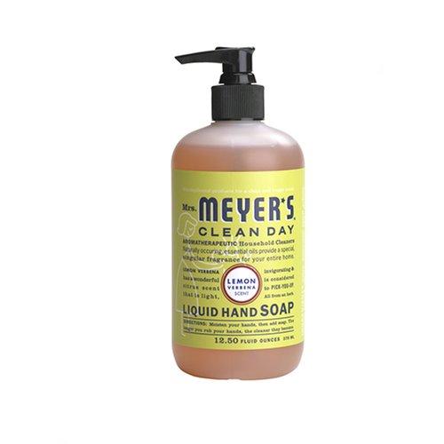 Mrs. Meyer's Clean Day Liquid Hand Soap, Lemon Verbena, 370 ml Bottle (Seifen) - Lemon Verbena Liquid
