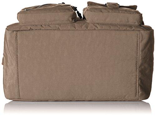 Kipling DEFEA K13636, Borsa a tracolla donna, 33 x 24 x 19 cm (L x A x P) Grigio (Warm Grey)
