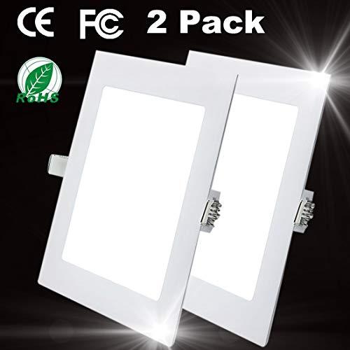 15W Luz de Techo Empotrada LED Cuadrados Panel de Luz Led Downlight Destacar Iluminación Cocina Baño Corredor 4000K Neutral White Tamaño del Agujero 18CM
