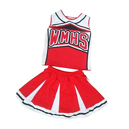 (Tenthree Cheerleader Uniform Musical - Mädchen Straße Tanz Kostüme Cheerleading Phantasie Kleid Fußball Sport Im Freien Weich Halloween Kostüm)