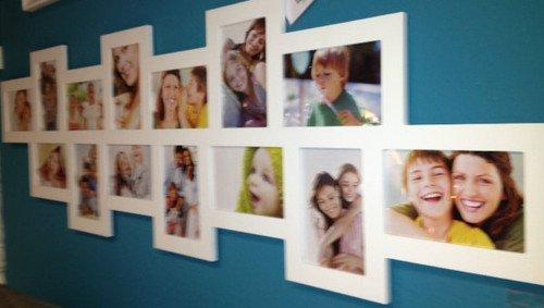 XXL Bilderrahmen Dallas II Holz weiß 14 Bilder Fotorahmen Collage Fotogalerie