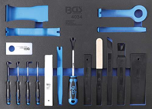 BGS 4034   Werkstattwageneinlage 3/3: Lösewerkzeuge, Montagekeile und Haken-Satz   17-tlg.