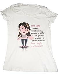IDEAMAGLIETTA OFF0001 T-Shirt Donna Cara Dieta Divertente Simpatica Fashion Vintage Amore Regalo