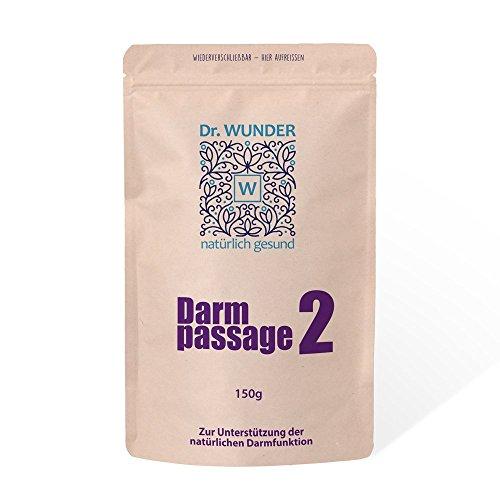 Dr. Wunder Darmpassage 2 150g Eco: geschmackloses Abführmittel zur Unterstützung der natürlichen Darmfunktion || kein Gewöhneffekt || bei Verstopfung/Obstipation ||zur