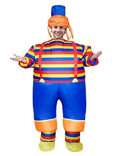 Clown Kostüm Aufblasbare - EZSTAX Aufblasbares Kostüm Lustig Clown Kostüm Anzug Verkleidung für Cosplay Halloween Karneval ,Streifen