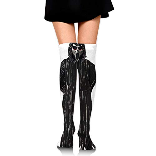 HRTSHRTE Halloween Witch Screaming Death Knif Ankle Stockings Over The Knee Sexy Womens Sports Athletic Soccer Socks (Halloween Screaming Mädchen)