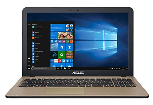 ASUS VivoBook D540NA-GQ059T - Ordenador portátil de 15.6' (Intel Celeron N3350, 4GB RAM, 500GB HDD, Windows 10 Home) chocolate negro - Teclado QWERTY Español