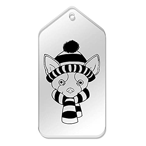 10 x Large 'Winter Chihuahua' Clear Gift / Luggage Tags (TG00022602)