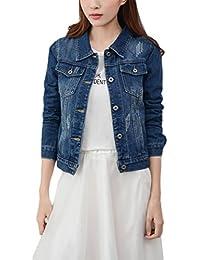 b1e10ee3079f69 Wvsender Mode Beiläufig Damen Mantel Jacke Denim jacket Trench Parka Jacken  Einfarbig Lange Ärmel Jeans-