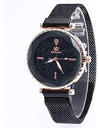 FSWHL LT Reloj Starry Sky para Mujer Reloj con imán de Diamante Reloj de Piedra Reloj