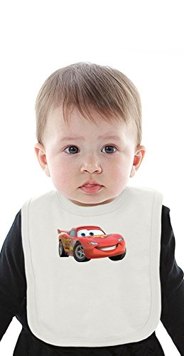 car Organic Baby Bib With Ties Medium