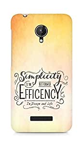 Amez Simplicity is the best form of Efficency Back Cover For Micromax Canvas Spark Q380
