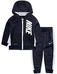 Nike - Conjunto de 2 Piezas de Sudadera con Capucha para bebé, 12 Meses,