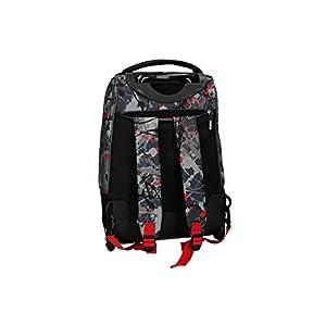 41VEahLQp1L. SS300  - Smiley World Mochila rojo bolsa de ocio escolar con la carretilla VZ733