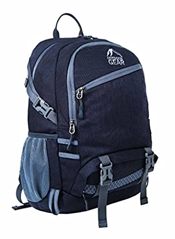 Outdoor Gear Mens Womens Waterproof High Visibility Backpack Camping Hiking Rucksack Travel Cycling Sports Bag - 25 Litres (Black /