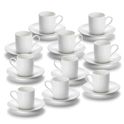 10er SET - Espressotasse 100 ml mit Unterteller CASHMERE round Maxwell & Williams / Kaffeetasse / Tasse Cashmere Bone China