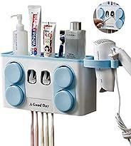 حامل فرشاة الاسنان وموزع معجون الاسنان الاوتوماتيكي من ايمابروي يثبت على الحائط مثالي للاستخدام العائلي. مضاد