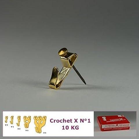 Crochet X–Gancio X N ° 1fino a 10kg: Scatola di 10