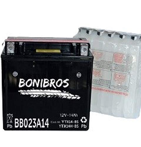 Bonibros YTX14-BS 12V 14Ah 180AEn BB023A14 senza manutenzione