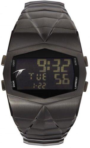 Thierry Mugler 4702102 - Reloj digital de cuarzo para hombre con correa de acero inoxidable, color negro