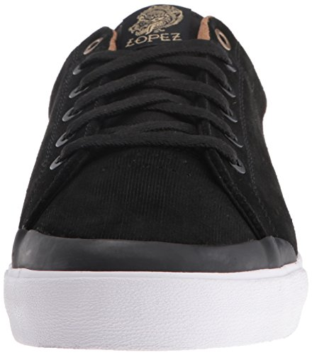 C1RCA Mens AL50R Adrian Lopez Durable Cushion Sole Skate Skateboarding Shoe Black/Gold