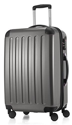 HAUPTSTADTKOFFER - Alex - NEU 4 Doppel-Rollen Hartschalen-Koffer Koffer Trolley Rollkoffer Reisekoffer, TSA, 65 cm, 74 Liter, Titan