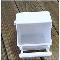 PanpA Sostenible Aves Pigeon Alimentador automático de Alimentación Drinker Bucket Food Dispenser Food Trough-White