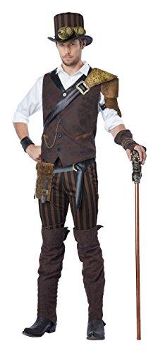 Dress Steampunk Kostüm Fancy - California Costumes Steampunk Kostüm für Herren M