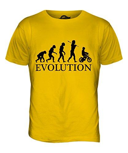 CandyMix Fahrrad Evolution Des Menschen Herren T Shirt Dunkelgelb