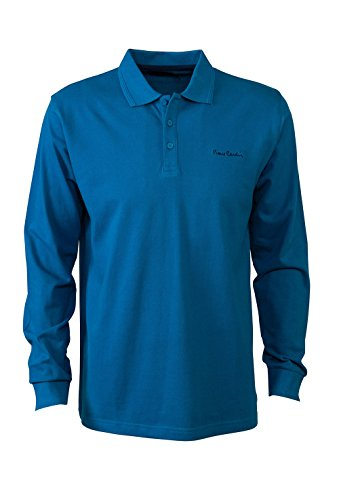 pierre-cardin-mens-new-season-long-sleeve-classic-fit-plain-polo-large-teal