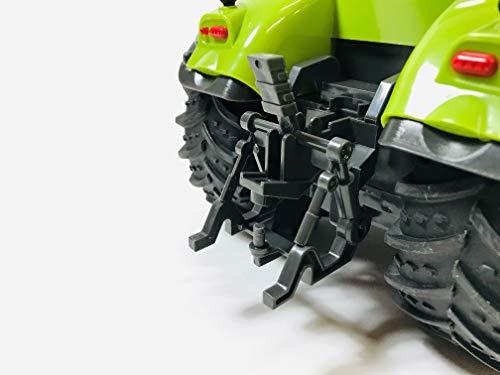 RC Auto kaufen Traktor Bild 5: BUSDUGA RC Ferngesteuerter Traktor CLAAS 870 Axion 1:16 - passend zu den Bruder Anhänger, inkl. Batterien - 2,4 GHz - RTR (Ready-to-Run) Sofort Spielbereit - Lizenz NACHBAU*
