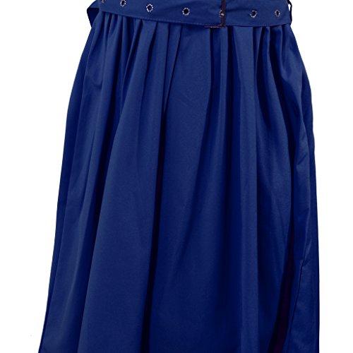 Femmes élégantes Robe De Soirée Mariage Sans Manches Boule Solide Bleu