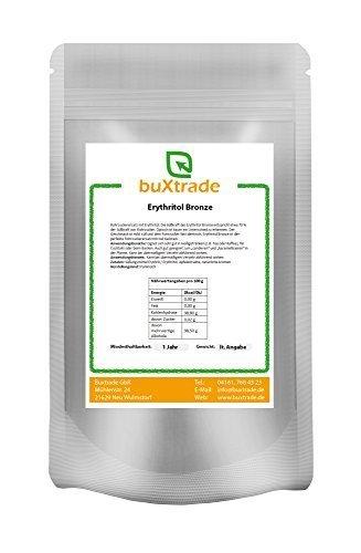 500 g Brauner Rohrzucker aus Erythritol - Bronze Rohrzuckerersatz Low Carb Erythrit