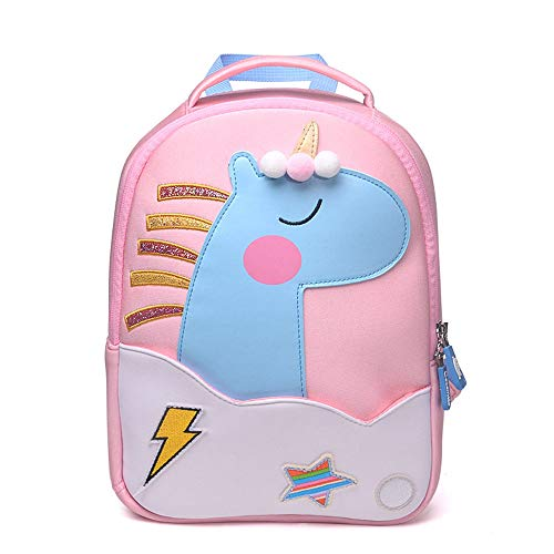 QYS Personalisierter Rucksack, Schultasche, Rucksack, beliebiger individueller Name mit verschiedenen Designs für Jungen und Mädchen, Einhorn, Raumschiff,Spaceship