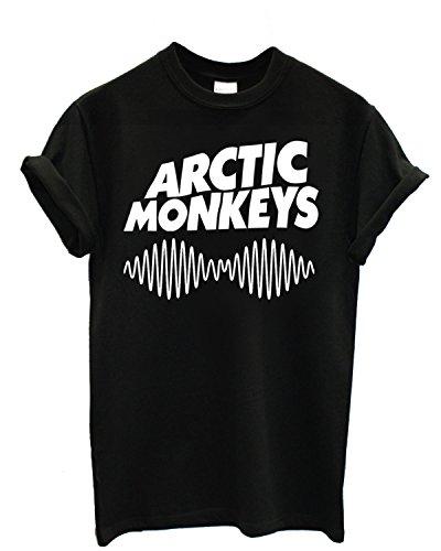 T-shirt Homme - Arctic Monkeys T-shirt con stampa rock band 100% coton LaMAGLIERIA,M, Noir